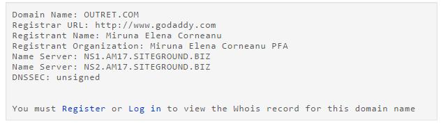 OutRet.com WHOIS DNS Domain Info DomainTools